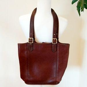 Vintage Coach Large Brown Leather Bag